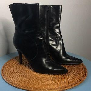 Nine West women's boots leather black Size 9